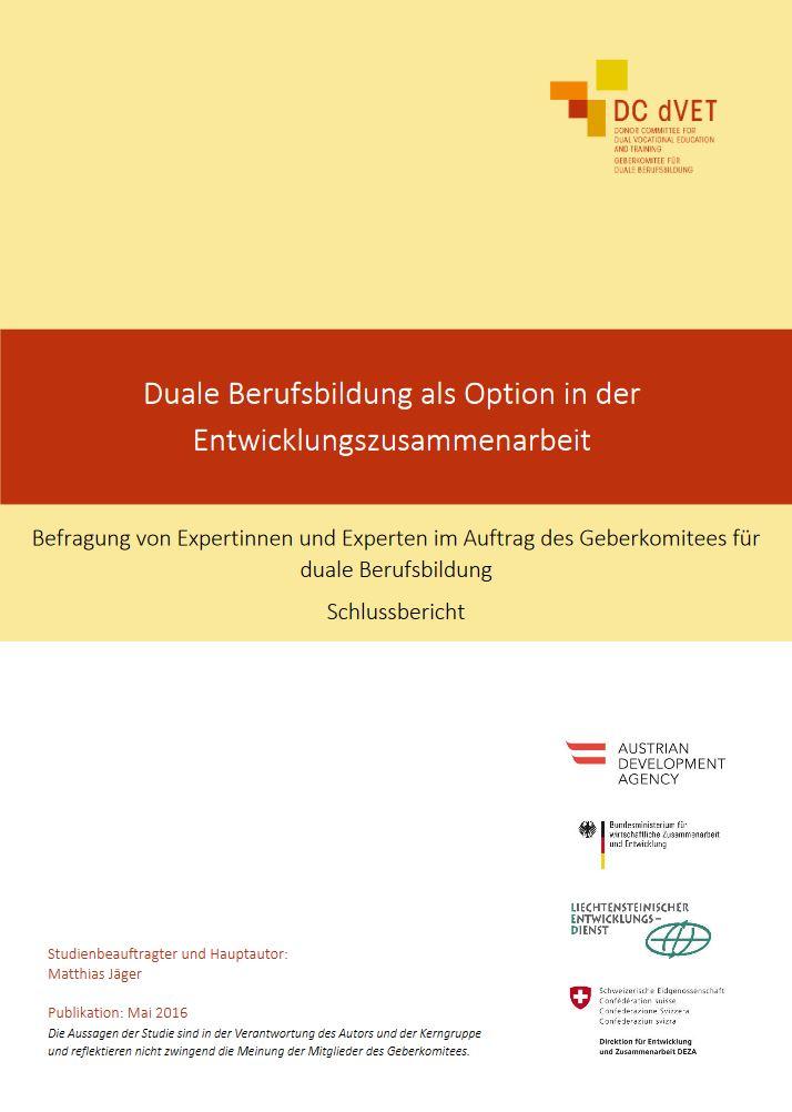 Duale Berufsbildung in der Entwicklungszusammenarbeit