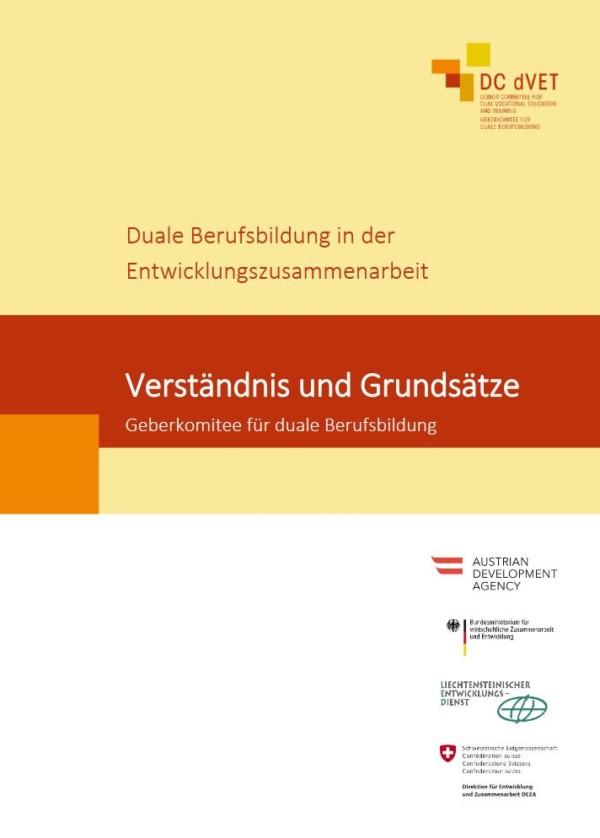 Verständnis und Grundsätze Geberkomitee für duale Berufsbildung (DC dVET)